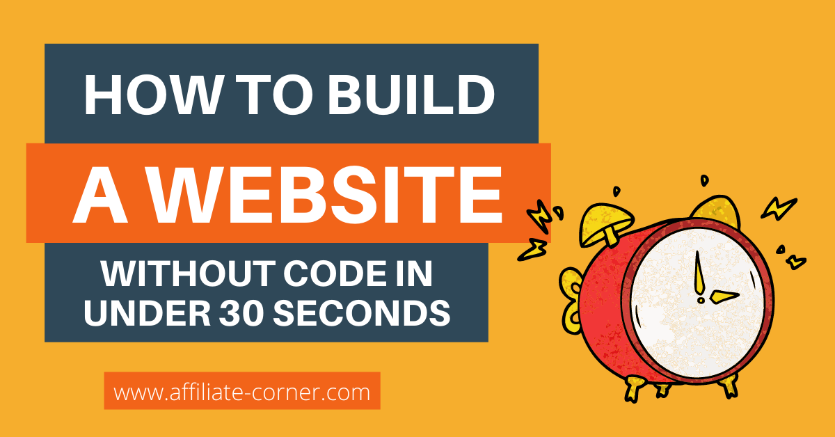 How to build a website without code in under 30 seconds